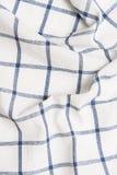 Предпосылка checkered текстильной ткани Стоковая Фотография RF