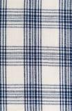 Предпосылка checkered текстильной ткани Стоковое фото RF