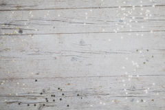 Предпосылка Christmassy серая деревянная с украшением Стоковые Изображения