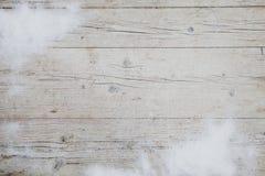 Предпосылка Christmassy серая деревянная с украшением Стоковое Фото