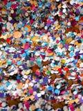 Предпосылка confetti масленицы Стоковые Фото