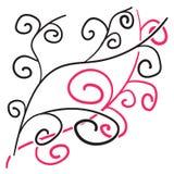 Предпосылка 44 corve doodles вектора огромная Стоковая Фотография