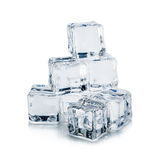 предпосылка cubes белизна изолированная льдом Стоковое фото RF