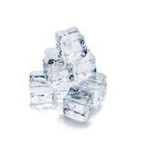 предпосылка cubes белизна изолированная льдом Стоковые Фото
