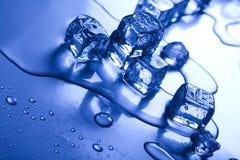 предпосылка cubes льдед Стоковая Фотография RF
