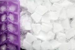 предпосылка cubes льдед Стоковое Изображение