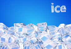 предпосылка cubes льдед иллюстрация вектора