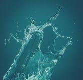 предпосылка 3d представляет брызгает воду белую Стоковая Фотография
