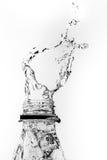 предпосылка 3d представляет брызгает воду белую Стоковая Фотография RF