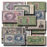 Предпосылка 3D старых денег Стоковые Фотографии RF