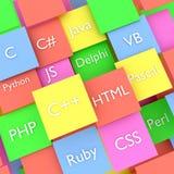 Предпосылка 3D языков программирования бесплатная иллюстрация