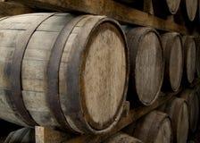 предпосылка 3d barrels модельное белое вино Стоковая Фотография RF