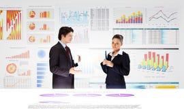 предпосылка diagrams финансовохозяйственная белизна отчете о пер oer Стоковые Изображения