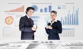 предпосылка diagrams финансовохозяйственная белизна отчете о пер oer стоковая фотография
