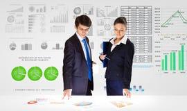 предпосылка diagrams финансовохозяйственная белизна отчете о пер oer стоковое изображение