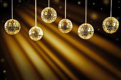 Предпосылка DJ с золотым светом Стоковая Фотография