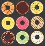 Предпосылка Donuts вектора бесплатная иллюстрация