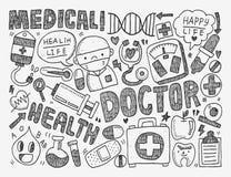Предпосылка Doodle медицинская Стоковое фото RF