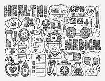 Предпосылка Doodle медицинская Стоковая Фотография RF