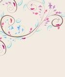 Предпосылка Doodle флористическая винтажная Стоковое фото RF