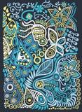 Предпосылка doodle цвета иллюстрация штока