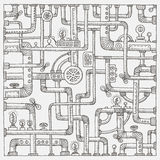 Предпосылка doodle Steampunk Стоковые Фото