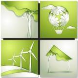 Предпосылка Eco - идет зеленый цвет Стоковое фото RF