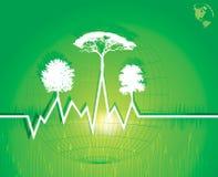 Предпосылка Eco содружественная Стоковое Изображение RF