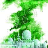 Предпосылка Eid Mubarak Стоковое Изображение RF