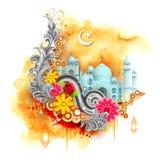 Предпосылка Eid Mubarak Стоковые Изображения