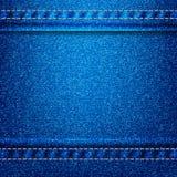 Предпосылка eps 10 текстуры джинсов Стоковая Фотография
