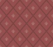 Предпосылка Fleur De Lis цвета Marsala безшовная Стоковая Фотография RF