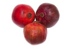 предпосылка fruits белизна pomegranate Стоковая Фотография RF