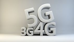предпосылка 3G 4G 5G Стоковое Фото