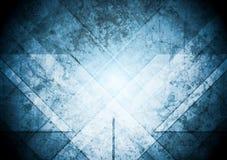 Предпосылка Grunge абстрактная голубая Стоковое Изображение