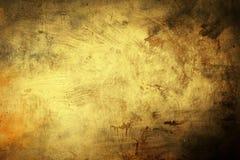 Предпосылка Grunge золотистая Стоковое фото RF