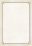 Предпосылка grunge сертификата размера A4 ретро бумажная Стоковое Фото