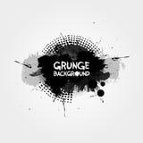 Предпосылка Grunge с брызгают и элементы полутонового изображения также вектор иллюстрации притяжки corel белизна изолированная п Стоковая Фотография RF