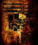Предпосылка Grunge с картинами стоковые изображения rf