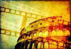 Предпосылка Grunge с ретро filmstrips и бумажной текстурой Стоковое Изображение RF