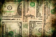 Предпосылка grunge текстуры банкнот денег доллара США Стоковое фото RF