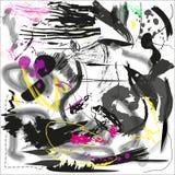 Предпосылка Grunge художническая с помарками и линиями Иллюстрация вектора