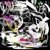 Предпосылка Grunge художническая с помарками и линиями Бесплатная Иллюстрация
