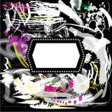 Предпосылка Grunge художническая с рамкой иллюстрация вектора