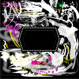 Предпосылка Grunge художническая с рамкой Бесплатная Иллюстрация