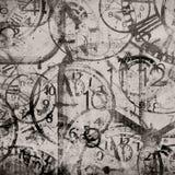 Предпосылка Grunge Часы Время бесплатная иллюстрация