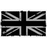 Предпосылка Grunge черная великобританская Стоковые Изображения RF