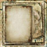 Предпосылка Grunge шикарная с старыми карточками Стоковое Фото