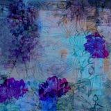 Предпосылка Grunge Fuchsia флористическая Стоковое Изображение