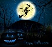 Предпосылка Halloween пугающая Стоковые Изображения